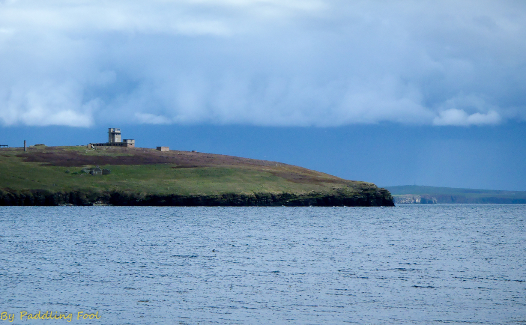 Stanger Head SIgnal station of the WWII era,  Flotta, Orkney isles, the north sea