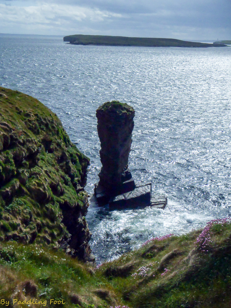 "Its not the ""Old Man of Hoy"" rather a mini version on Flotta"