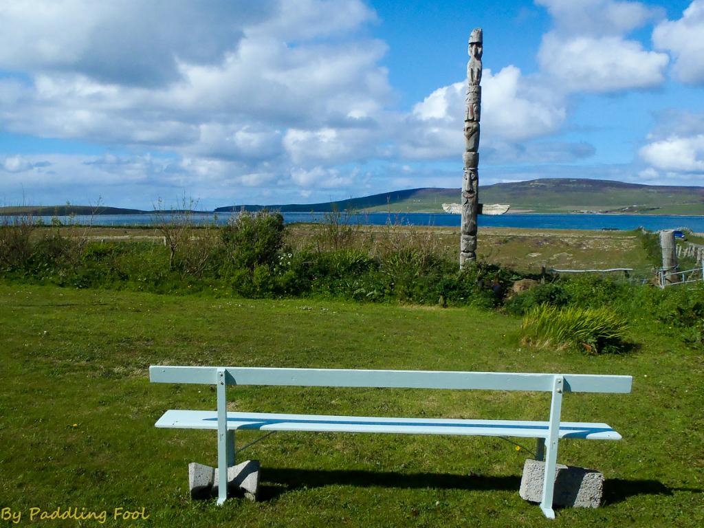 an odd , yet relaxing scene in Orkney.