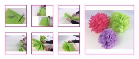 Blumen aus Seidenpapier