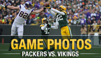 Photos from Sunday's Green Bay Packers vs. Minnesota Vikings game