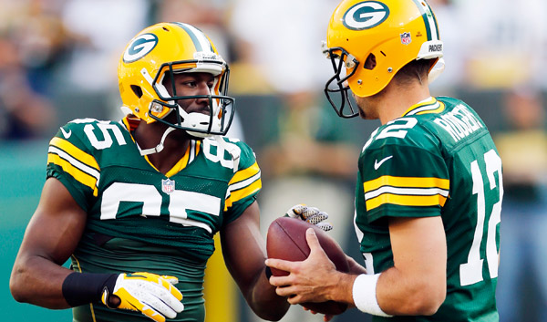 Green Bay Packers WR Greg Jennings and QB Aaron Rodgers