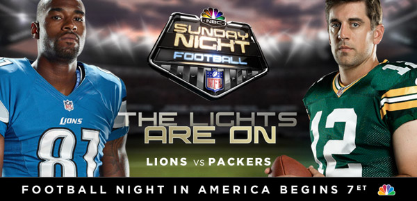 Packers vs. Lions - Sunday Night Football