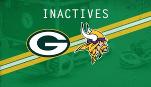 Packers-Vikings inactives