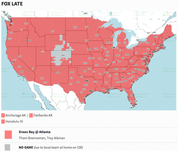 Packers TV map