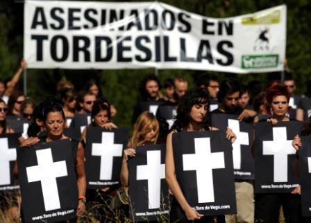 Acto del PACMA en Tordesillas