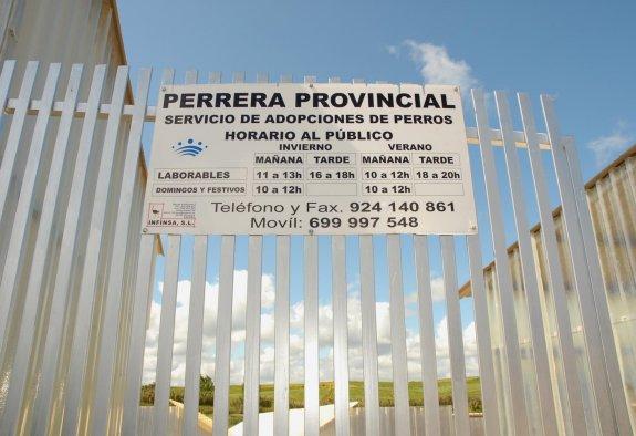 Perrera provincial en Olivenza