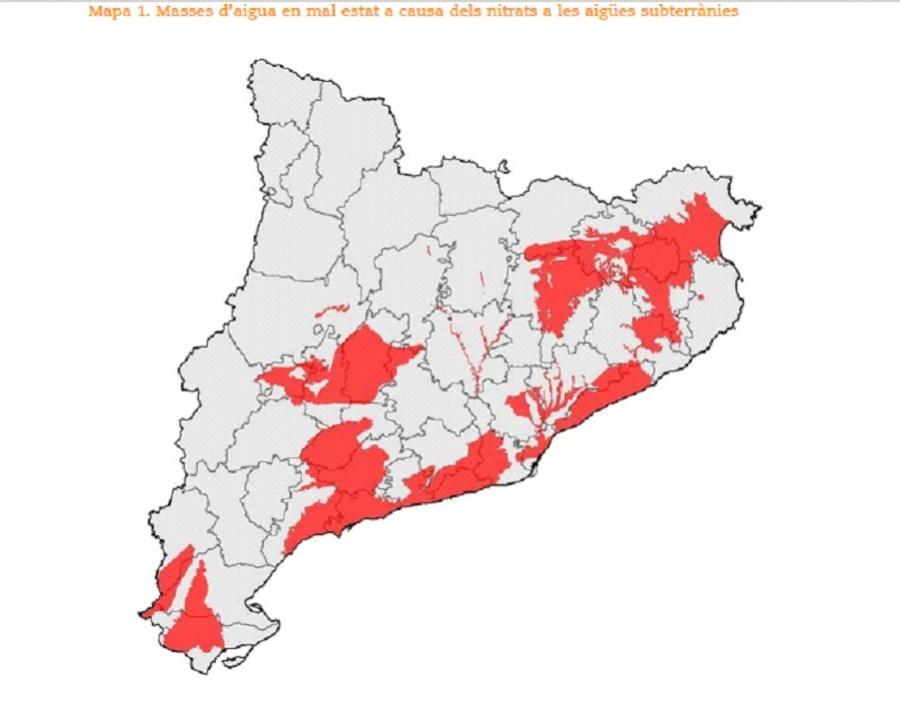 contaminacion purines Catalunya