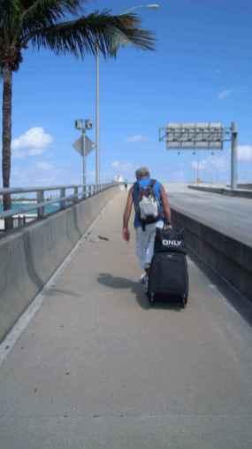 Naar het cruiseschip in Miami