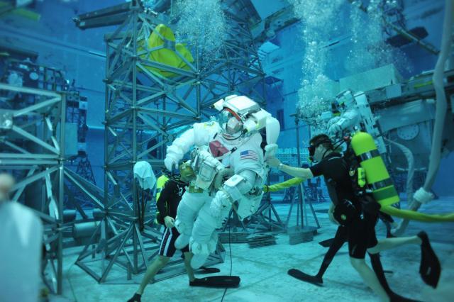 Scuba Diver and Astronaut at NASA's NBL