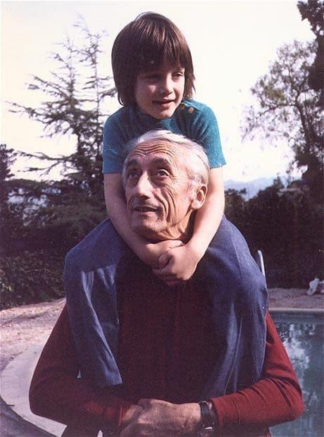 Jacques-Yves Cousteau and Fabien Cousteau