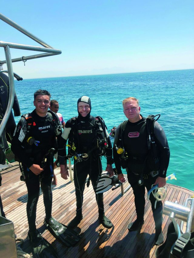 Jamie Hull, PADI Course Director, on a liveaboard