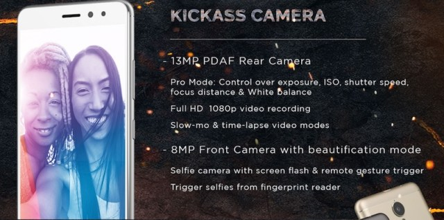 Lenovo K6 Power Camera Specifications