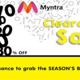 Myntra's End of Season Clearance Sale, July 27-29th 2018