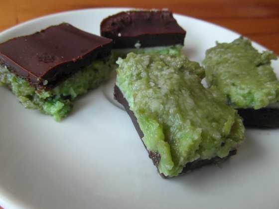 Hotové mentolové čokoládky