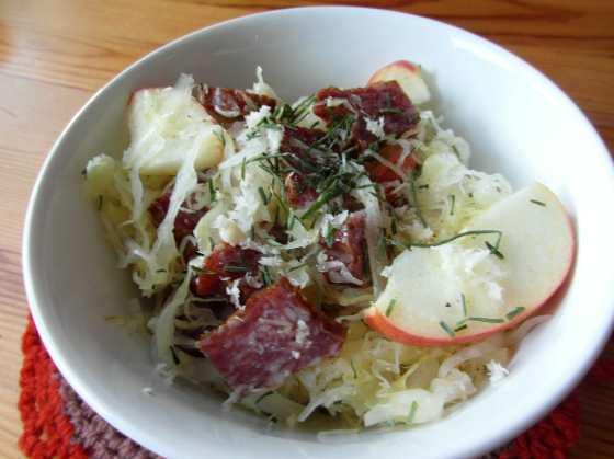 Zimní lovecký salát