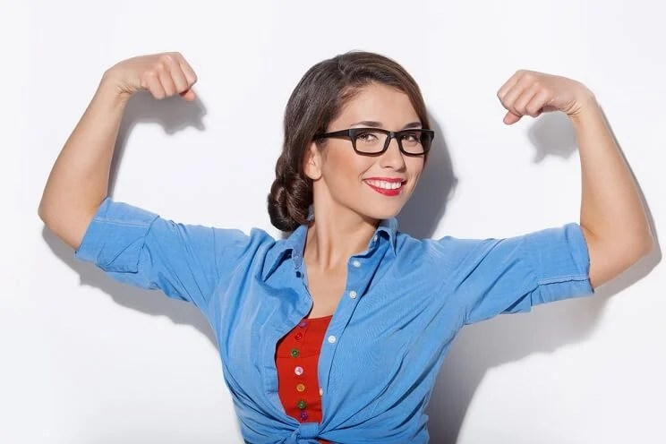 woman with strong immune system