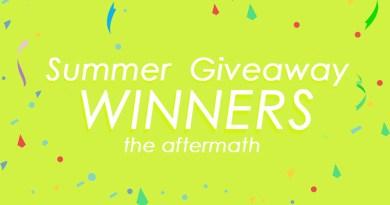 Summer Giveaway Winners 2018