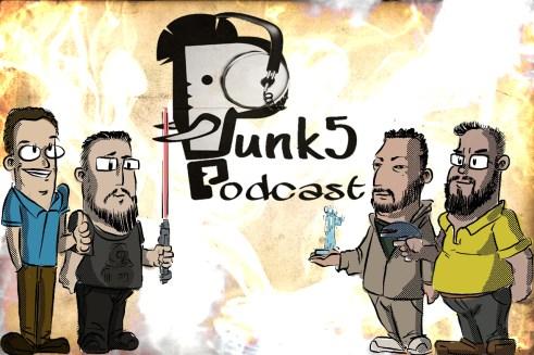 Caricaturas dos participantes do episódio - Eduardo, Lucas, Jorge e Fabrício