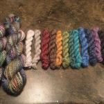 I've finished spinning my Paradise Fibers November fibers! There was so much fiber in the box i was able to share with a friend and also spin minis of each seperate color and then complete two different fractal techniques with the instructions included in the box. Such a wonderful experience! I can't wait to fins a pattern for them all so i can see how the fractals will knit up. Thank you Paradise Fibers! -heatherjoycatlady
