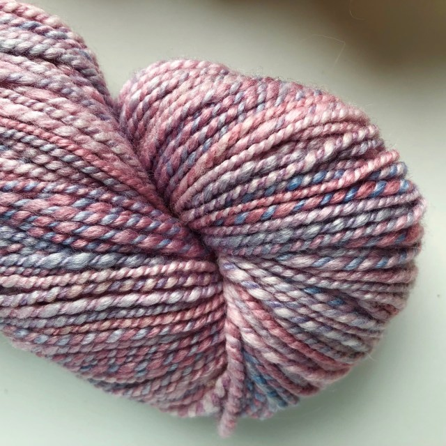 2-Ply Dyed and spun Pearly Polwarth Blend