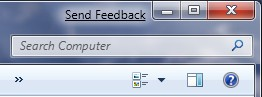Windows 7 - send feedback