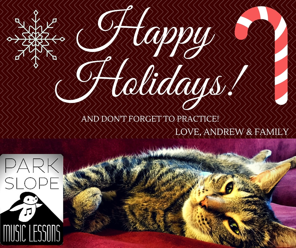 Happy Holidays from Park Slope Music Lessons