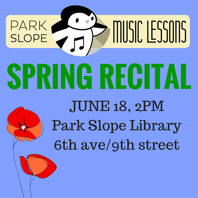 SPRING MUSIC RECITAL in park slope