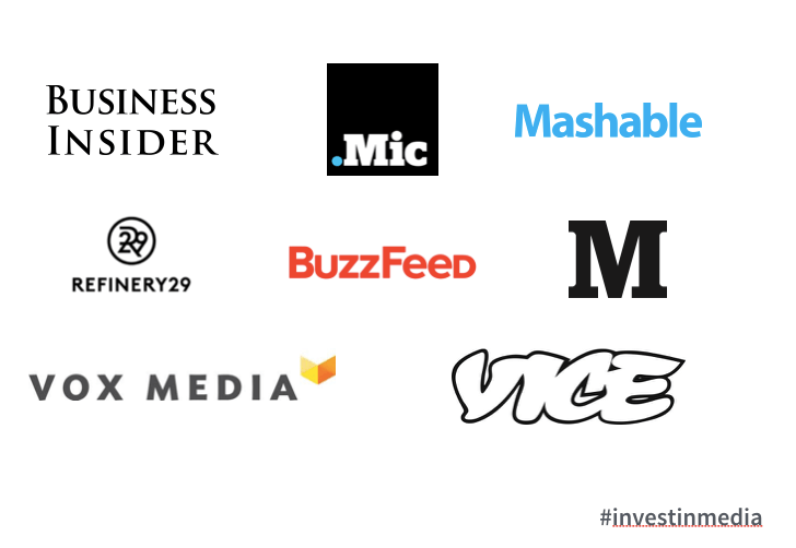 Several new media companies received venture capitalist  funding in 2014 and 2015. In 2014, VCs invested $683 million in digital media worldwide, up from $277 the year prior.