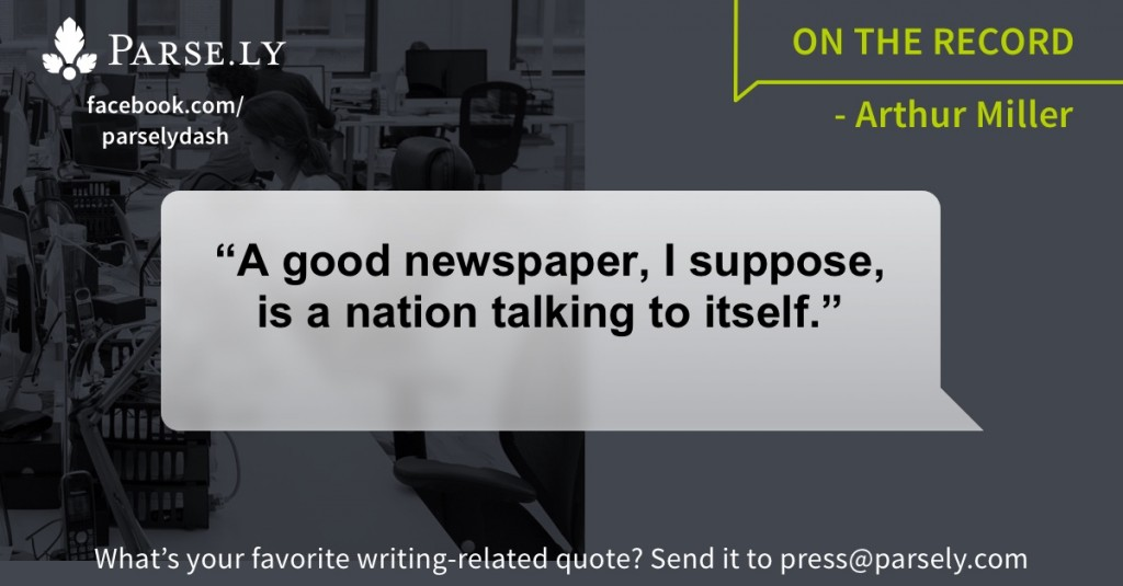 quote, Parse.ly, on the record