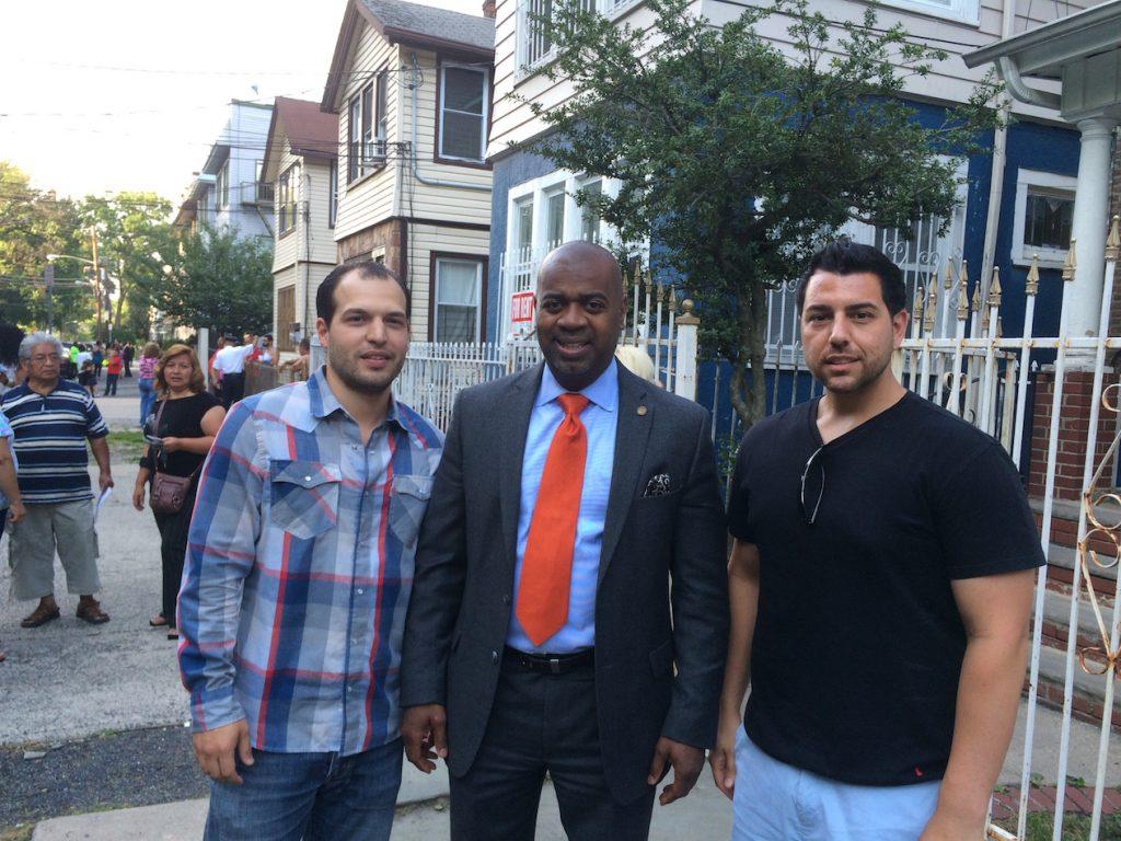 Parse.ly's Jonathan Ortega; Mayor of Newark, Ras Baraka; and Vincent Buongiorno, real estate investor