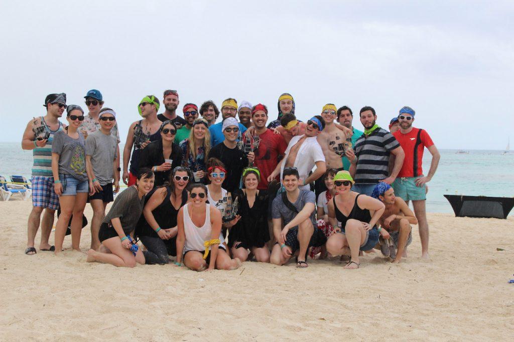 Parse.ly team on beach