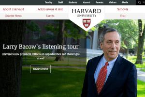 Harvard University homepage