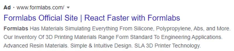 Google SERP Ad