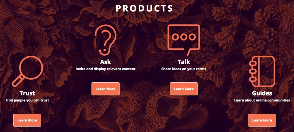 products offered by The Coral Project