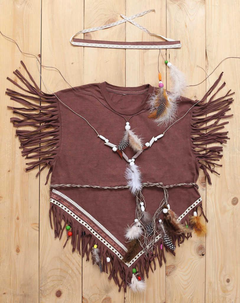 Indiánský kostým výroba