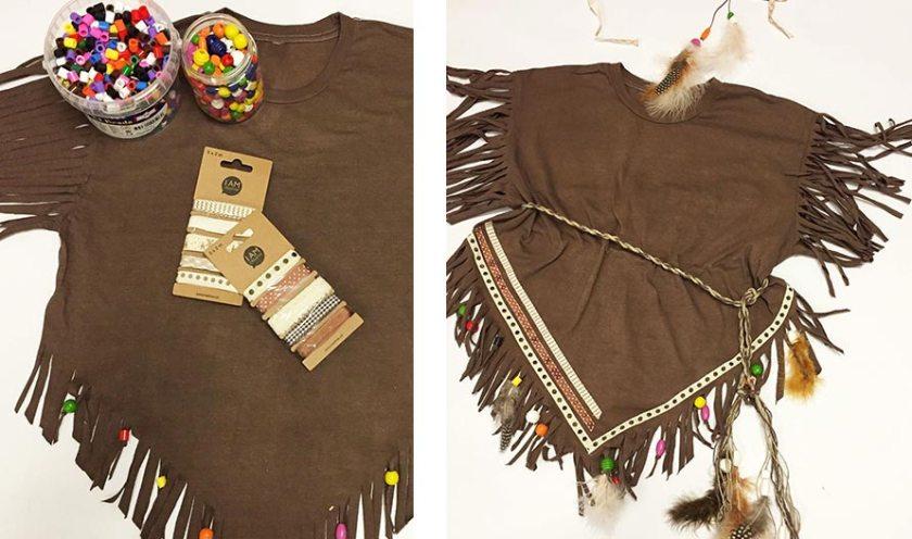 Výroba indiánský kostým