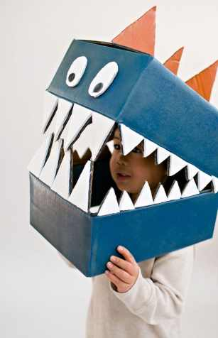 Hlava dinosaura kostým