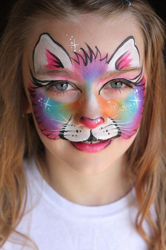 Kočička a obličej obrázky