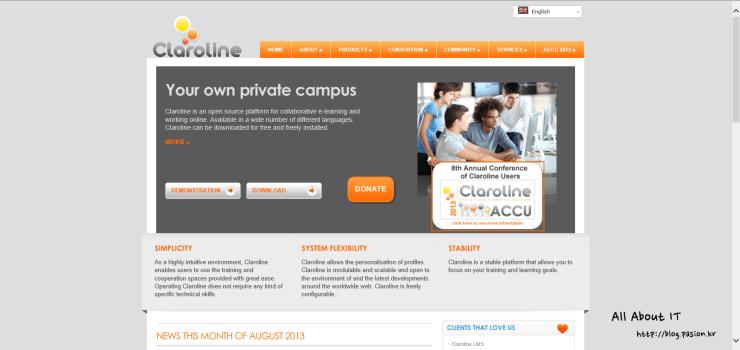 claroline-homepage