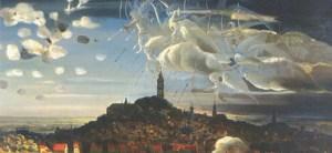 Le tableau de Marcel Gillis évoquant la légende des Anges