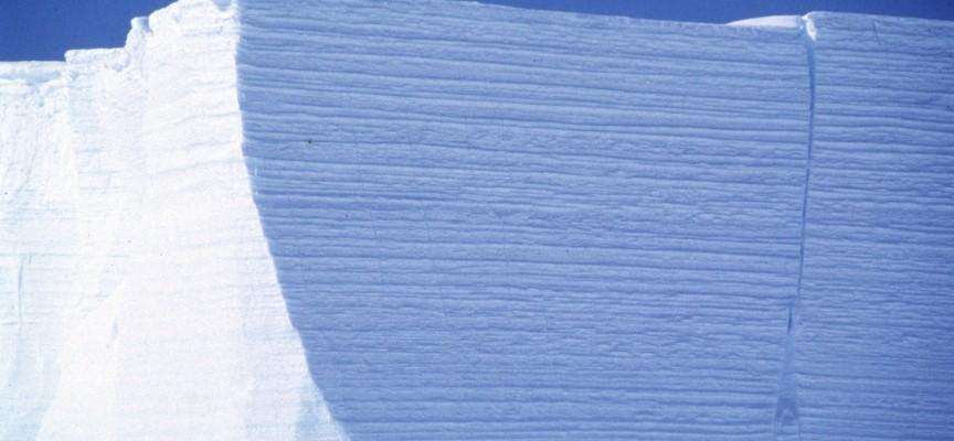 La stratification de la glace bien visible (photo IFP pour expo Pass).