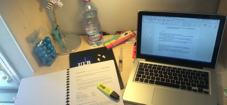 Le quotidien de Clémence, dans sa chambre d'étudiante : l'étude!