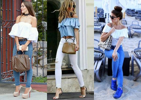 ciganinha de babado + jeans skinny