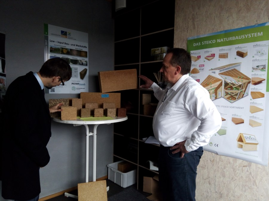 Passive House insultation materials on display