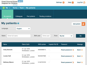 This is using the modern user interface that patients already had but now works on older web browsers like Internet Explorer 7 and modern smartphones with small screens