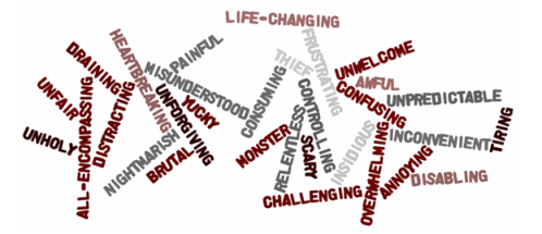 "A Word Cloud of Members' Answers to ""Describe MS in One Word"""