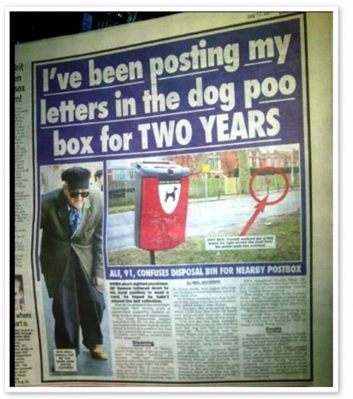 man-posts-letters-into-a-dog-poo-disposal-box-for-two-years