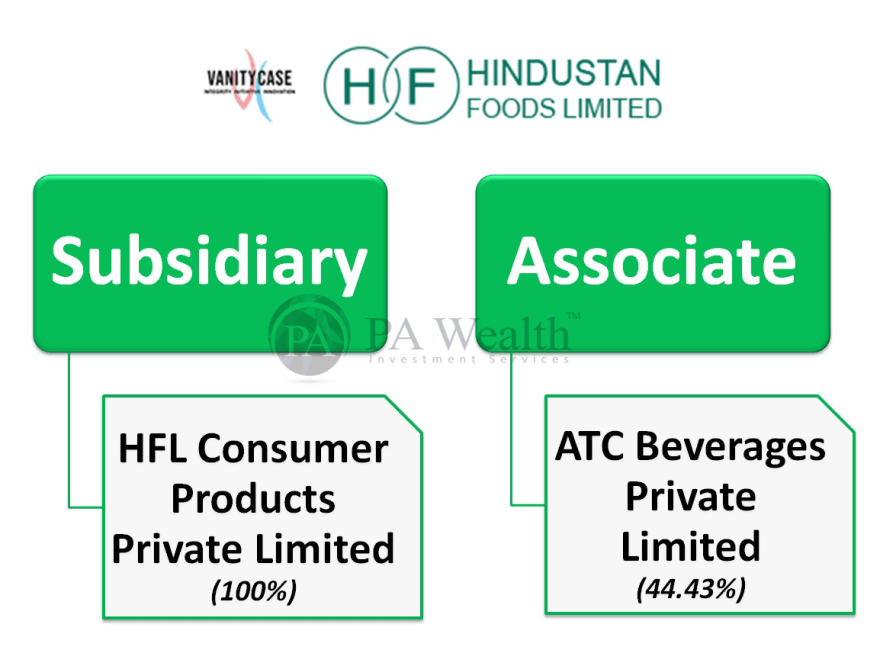hindustan foods stock research with details of group structure