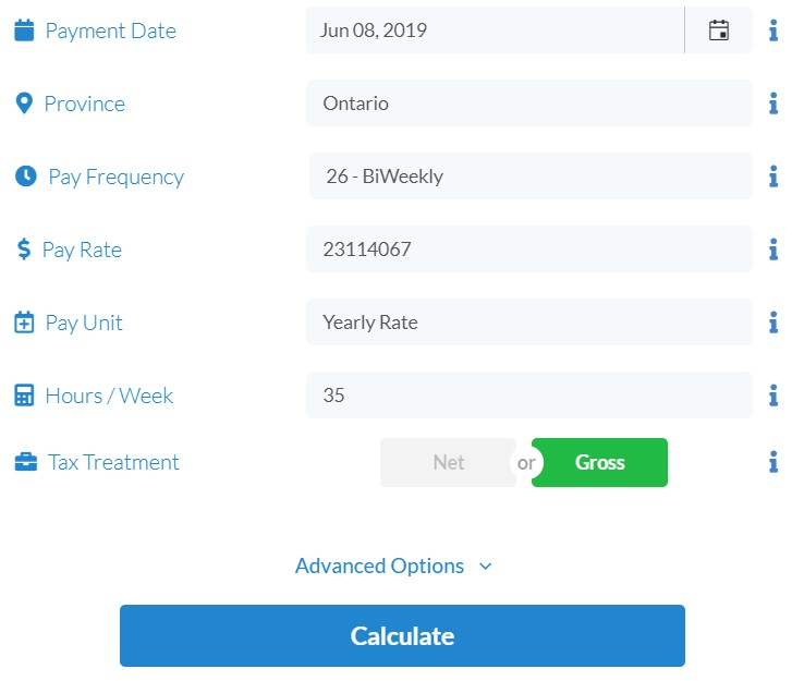 PaymentEvolution Payroll Calculator - easily setup custom calculations of take home pay